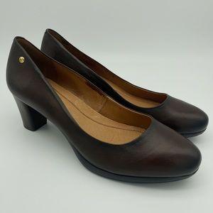 Pikolinos Brown Leather Wedged Heels